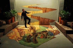 "3d painting ""Anaconda"" in Tel-Aviv"