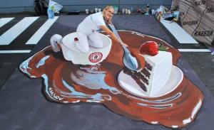 """""""Dessert"""" for 3d street paintig festival in Odessa, Ukraine"""