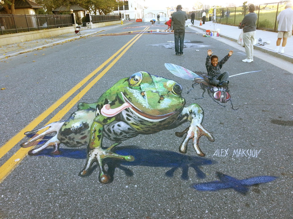 How To Do D Street Painting Or D Street Painting For Dummies - Anamorphic art looks real