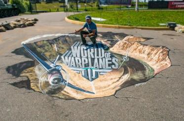 """WarPlanes"" like advertising for Wargaming company, Minsk, Belorus"