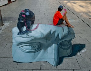 """""""The call"""" from Street art festival in Wilhelmshaven, Germany"""