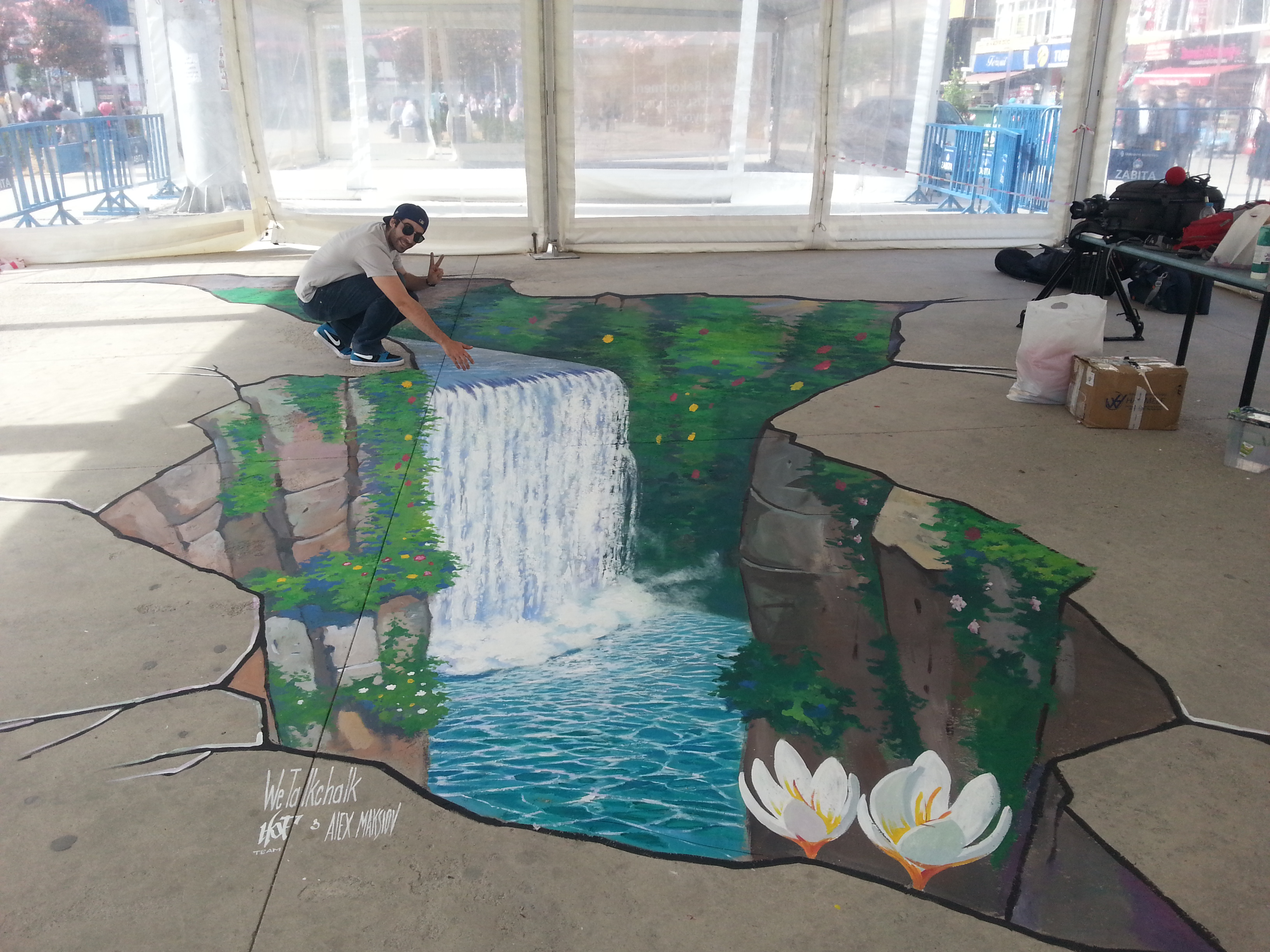 3d street painting in istanbul 3d street painting by for 3d street painting mural art