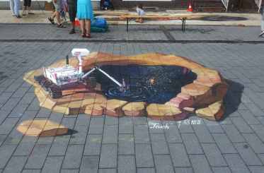 """""""Touch"""" - 3d street painting in Germany, Sögel"""