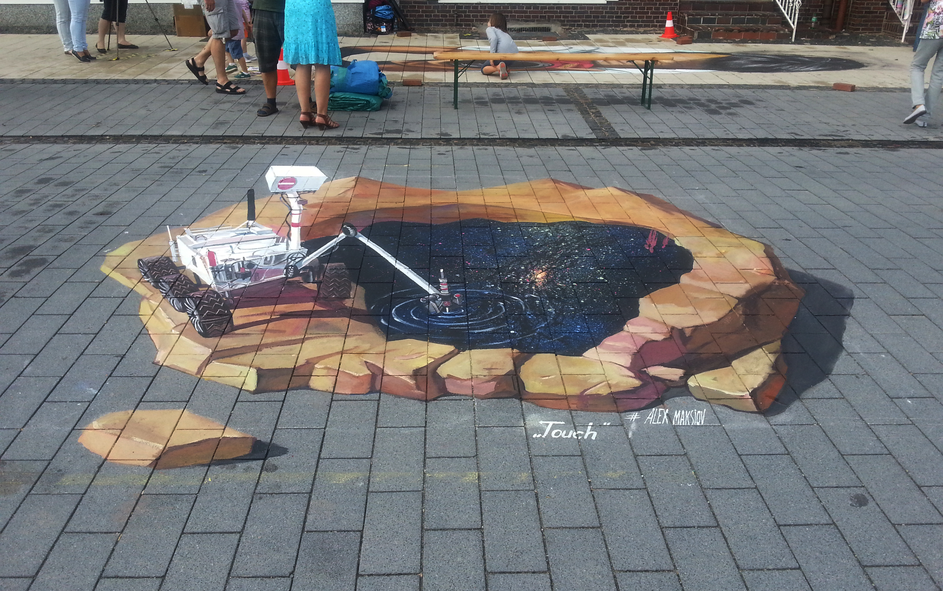 3d painting touch 3d street painting by alex maksiov