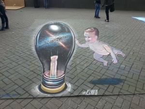 """Galaxy"" in Street Art Festival in Minsk, Belorussia"
