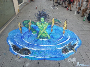 3d street painting in Germany
