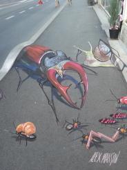 """""""Shopping"""" in Street Art Festival in Graz, Austria"""