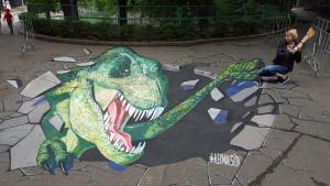 3d dinosaur in Nikolaevsky Zoo, Ukraine