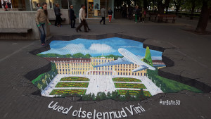 3d street painting for Air Baltic company