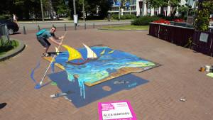 """3d painting """"Van-Gogh palete"""""""