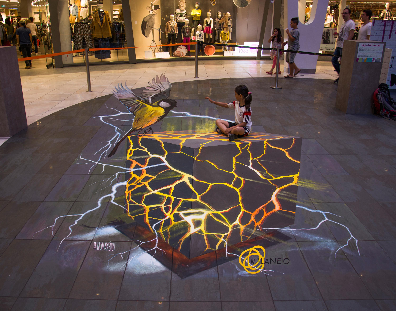 3d Painting Quot Lava Cube Quot 3d Street Painting By Alex Maksiov