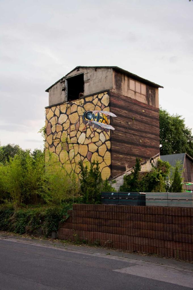 "3d Mural ""Wasp"", Germany, Krefeld 2015"