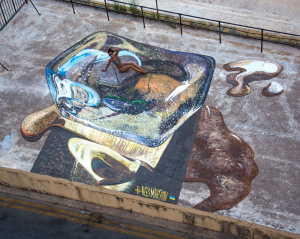 """3d painting """"Hot & Cold"""" in Valetta"""