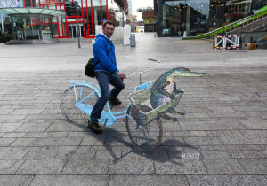 "3d street painting ""Cycling in Dutch style"""