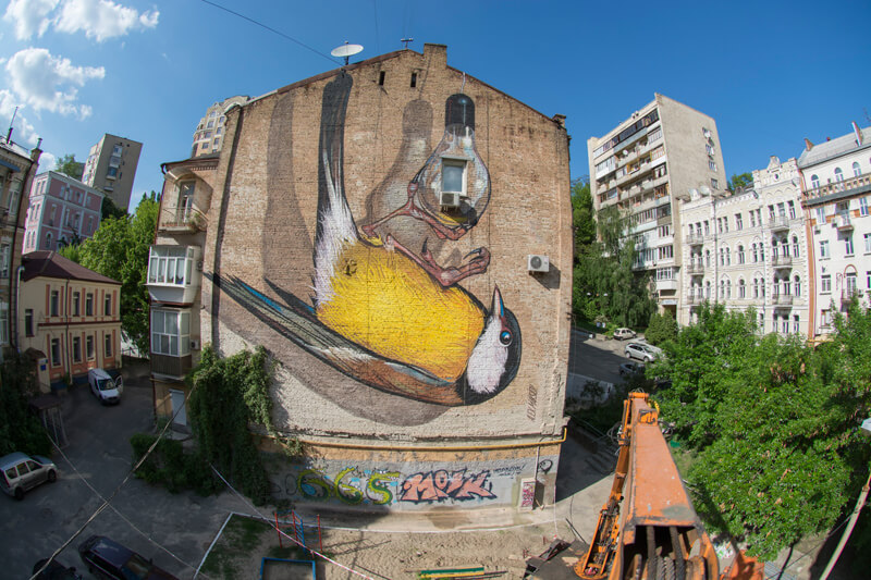 Panorama 360 of mural freedom 3d street painting by for 3d mural art