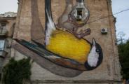"""3d mural """"Fredom"""" in Kiev"""