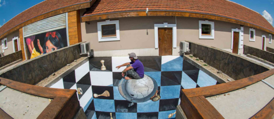 3d anamorphic painting in Bulgaria