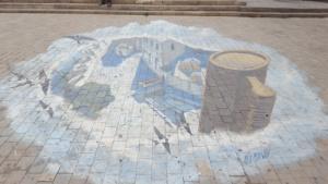 3d street art in Baku