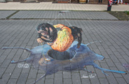 3d street art festival in Germany