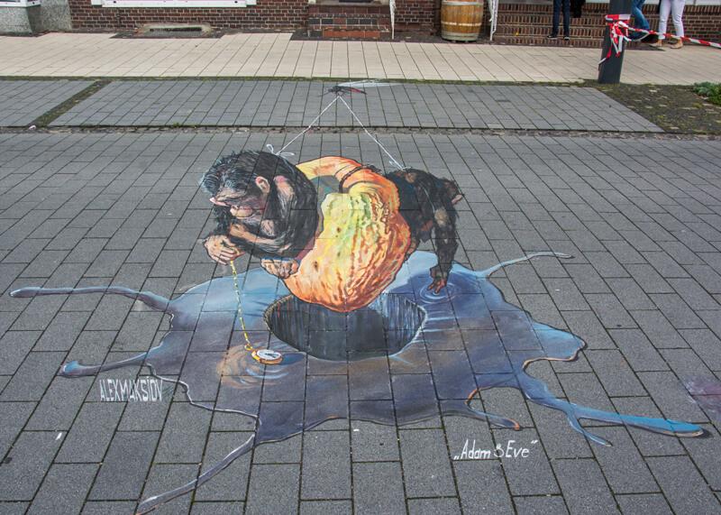 3d street art festival in Germany