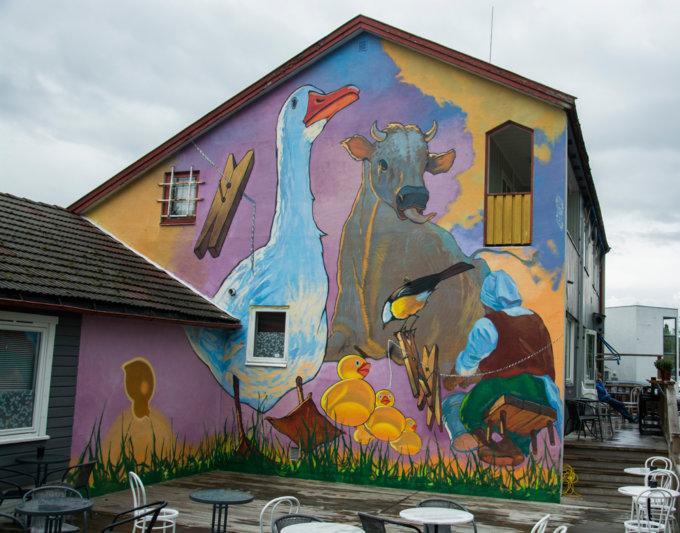 """Mural """"Thread"""" in Drammen"""