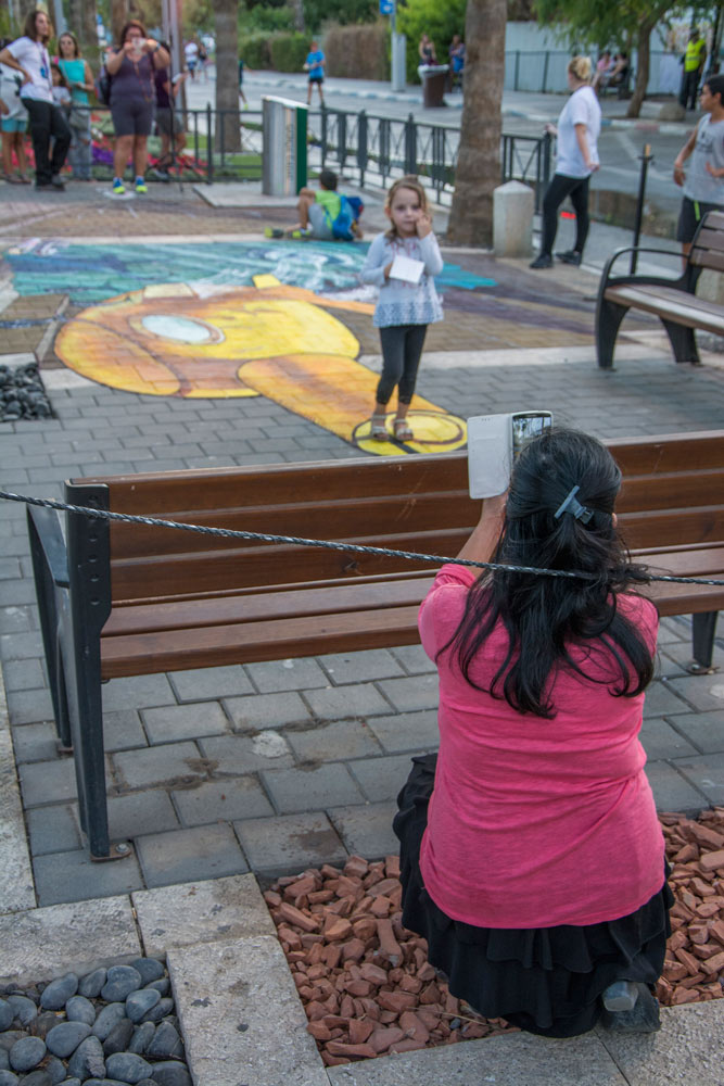 3d street painting festival in Afula