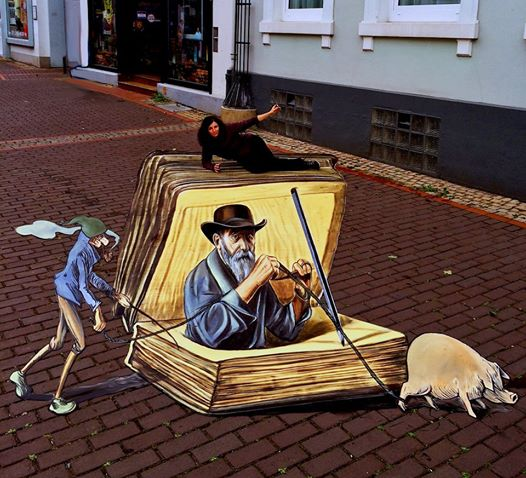 3d street art festival in stadthagen 3d street painting. Black Bedroom Furniture Sets. Home Design Ideas