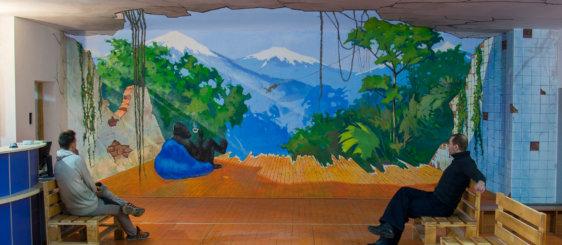 """3d mural for """"Jiwa"""""""