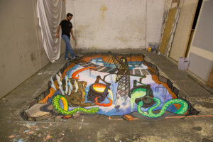 """3d street painting """"Safiest"""""""