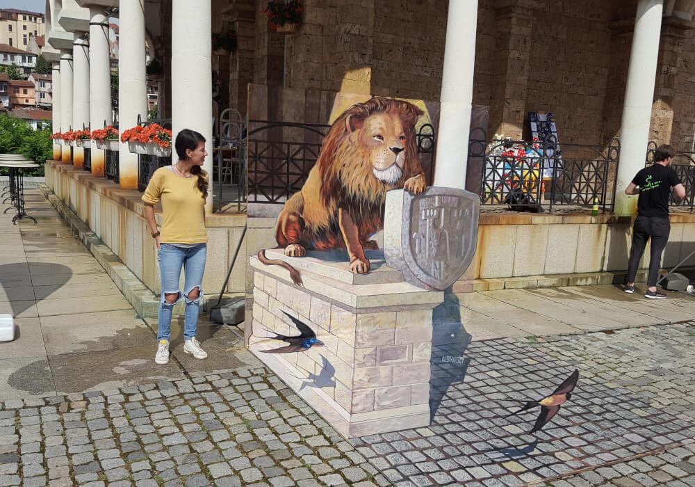 3d street painting festival in Veliko-Tarnovo