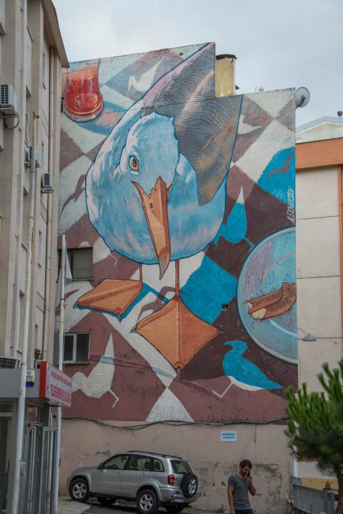 "mural ""Turkish tea"" in Kadıköy"