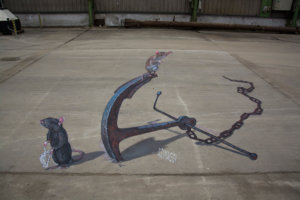 """3d street painting """"Expectation"""""""