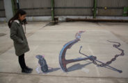 "3d street painting ""Expectation"" for Tizarte festival"