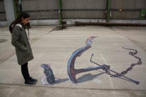 "3d street painting ""Expectation"" for Tizarte festival"