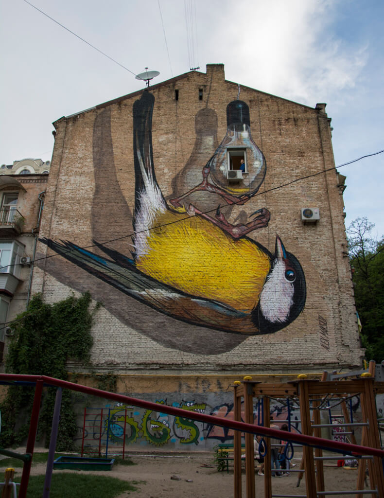 Mural Quot Freedom Quot In Kiev Ukraine 3d Street Painting By Alex Maksiov